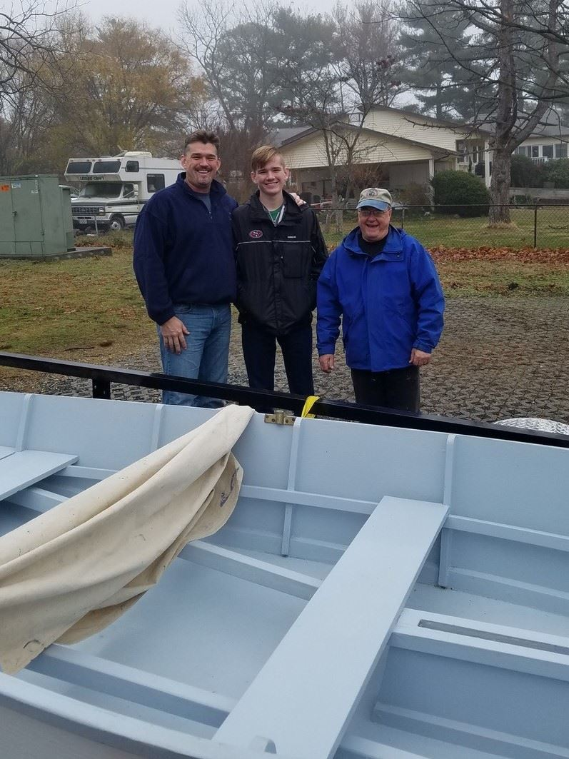 Boat Raffle Winners with Ray Brule